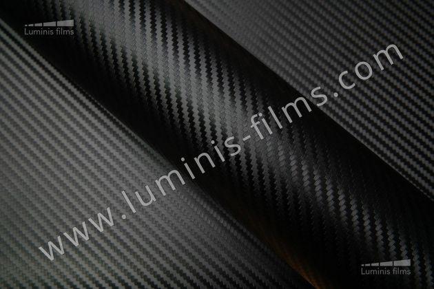 Revêtement décoratif carbone noir 3D. Luminis Films