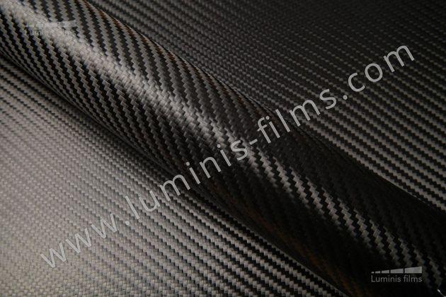 Revêtement décoratif carbone noir 2D. Luminis Films