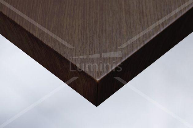 Revêtement adhésif effet bois acajou foncé. Luminis Films