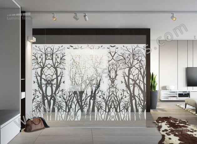 Film décoratif dépoli à arbres. Luminis Films