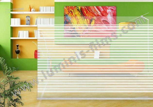 Film décoratif à lignes blanches réparties. Luminis Films