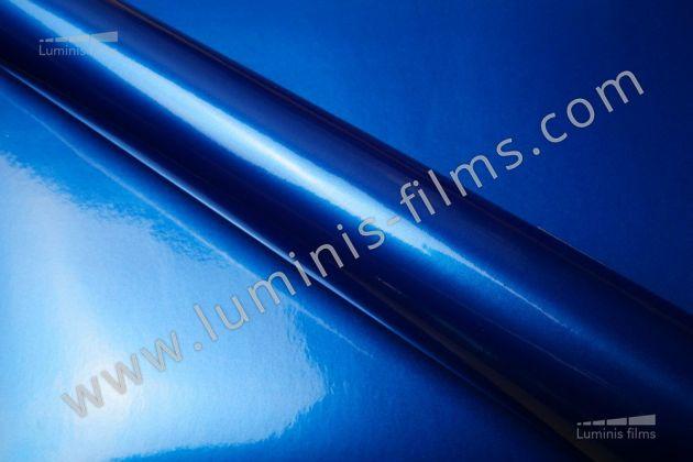 Revêtement décoratif bleu métallisé 3D