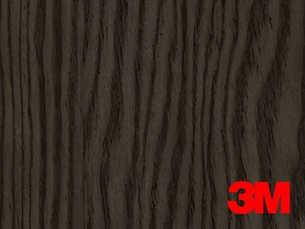 Revêtement décoratif DI-NOC 3M effet bois mélèze noir satiné. Luminis Films