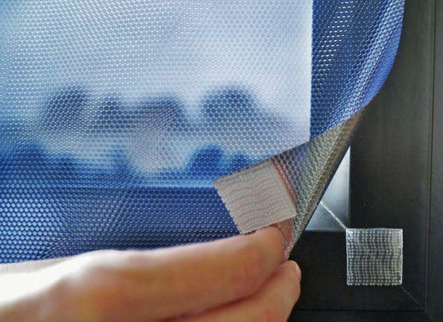 Film repositionnable bleu anti chaleur à scratchs. Luminis Films