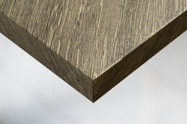 Adhésif décoratif imitation bois finition or. Luminis Films