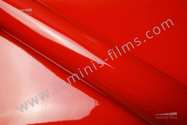 Revêtement décoratif rouge brillant 2D. Luminis Films