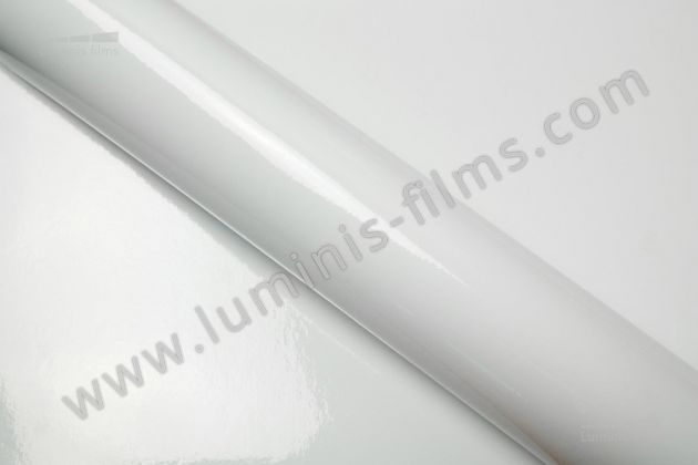 Revêtement décoratif blanc brillant 3D. Luminis Films