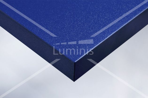 Revêtement glossy bleu à fines paillettes argentées. Luminis Films