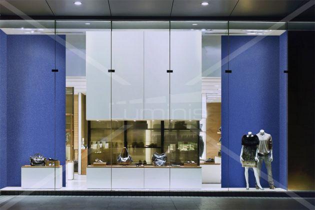 Revêtement glossy bleu à fines paillettes argentées