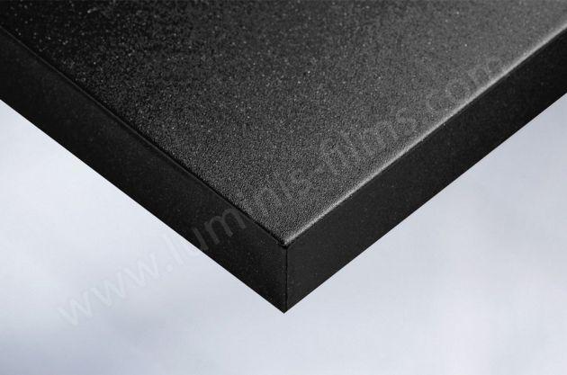 Revêtement décoratif noir mat à fines paillettes. Luminis Films