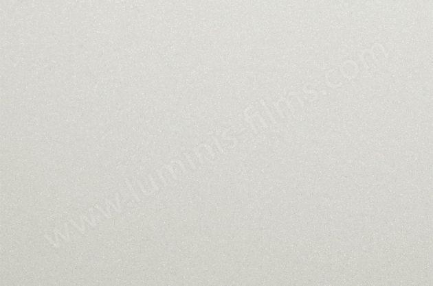 Revêtement glossy blanc à fines paillettes argentées. Luminis Films