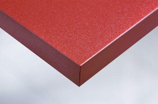 Adhésif glossy rouge à fines paillettes argentées. Luminis Films