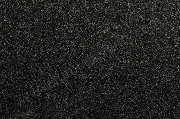 Revêtement adhésif glowy noir à fines paillettes argentées. Luminis Films