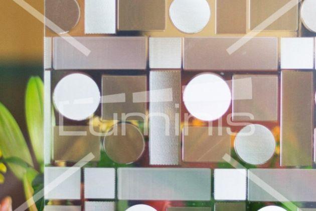 Film repositionnable à formes géométriques. Luminis-Films