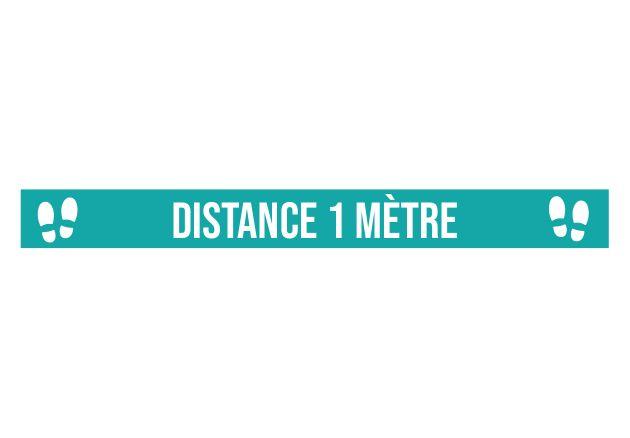 Marquage au sol Distance 1 mètre bleu. Luminis Films