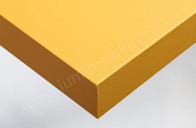 Adhésif pour meuble jaune bouton d'or mat. Luminis Films