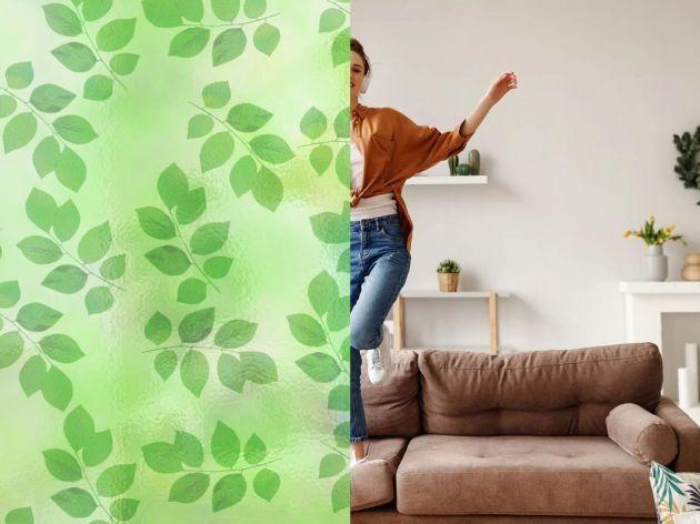 Film électrostatique à feuilles vertes. Luminis Films