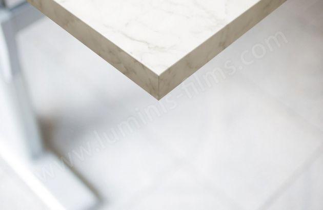 Revêtement décoratif marbre blanc mat