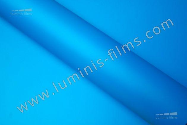 Revêtement décoratif bleu mat 2D. Luminis Films