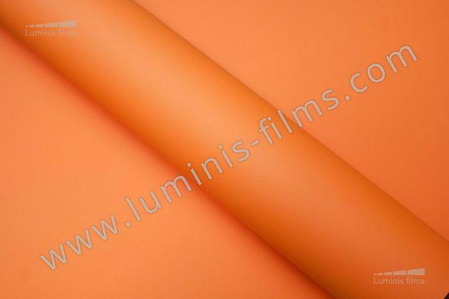 Revêtement décoratif orange mat 3D. Luminis Films