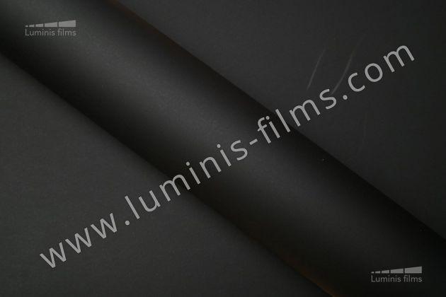 Revêtement décoratif noir mat 3D. Luminis Films