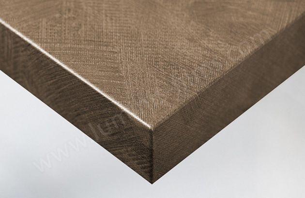 Revêtement décoratif tissu marron brossé. Luminis-Films
