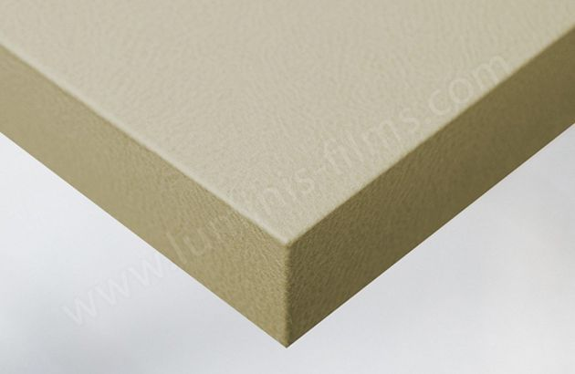 Adhésif imitation cuir mat beige. Luminis Films