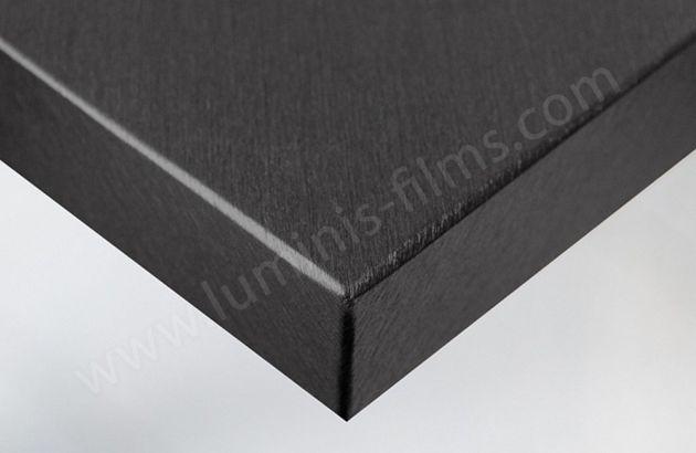 Revêtement décoratif acier brossé. Luminis Films