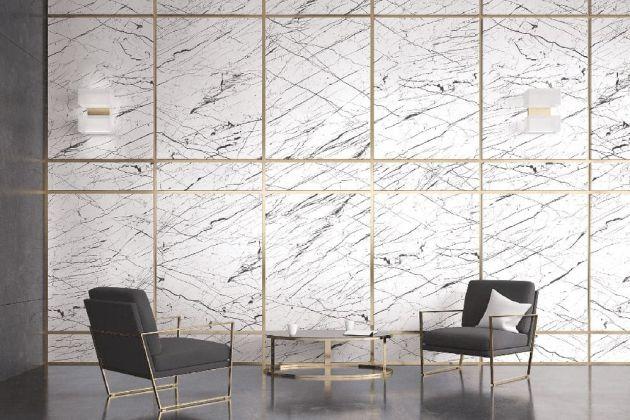 Rouleau adhésif marbre blanc mat contrasté