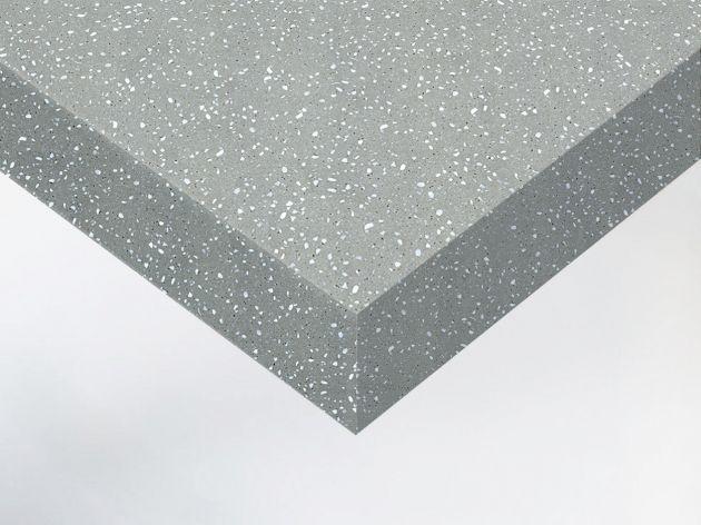 Adhésif décoratif imitation terrazzo gris béton. Luminis Films