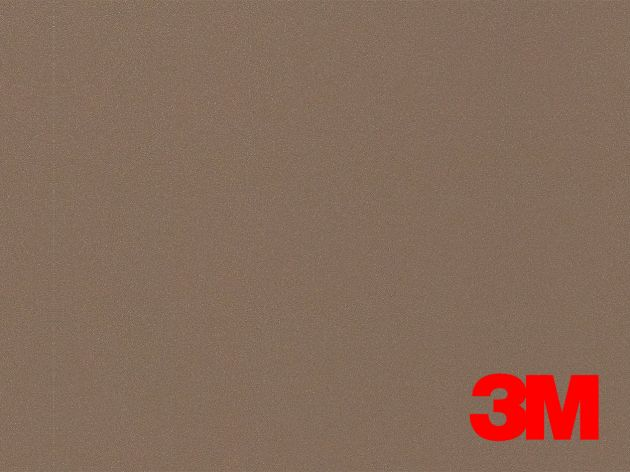 Revêtement décoratif DI-NOC 3M effet métal marron. Luminis Films