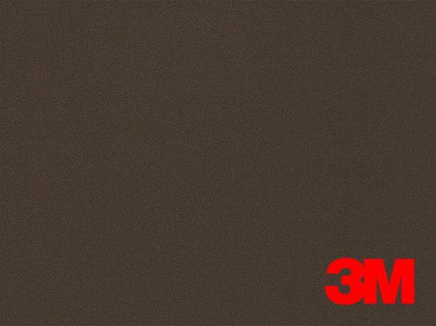 Revêtement décoratif DI-NOC 3M effet métal marron foncé. Luminis Films