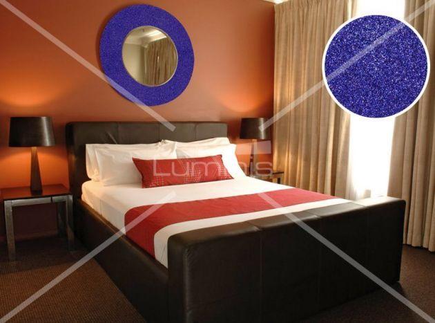 Revêtement décoratif pailleté bleu