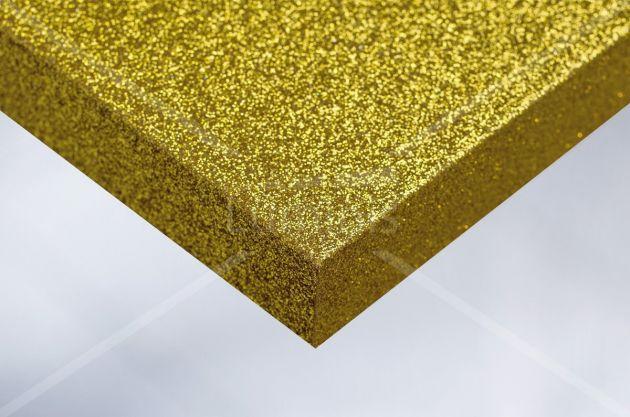 Rouleau adhésif pailleté jaune. Luminis Films