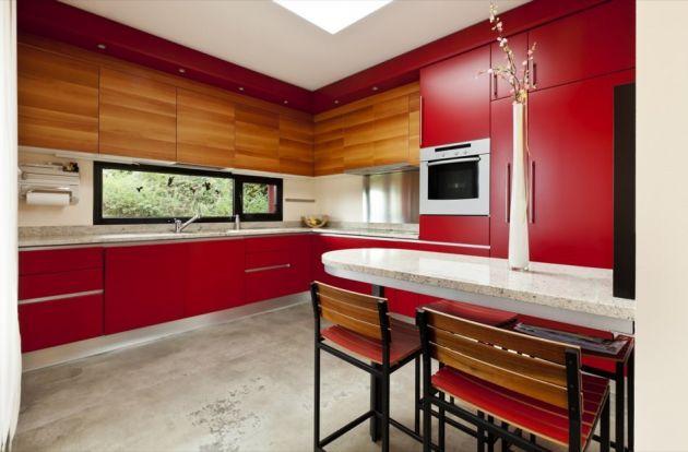 Revêtement décoratif rouge mat 2D. Luminis Films