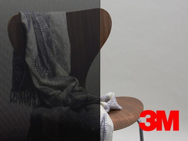 Film décoratif Fasara 3M dégressif pois noirs opaques. Luminis Films