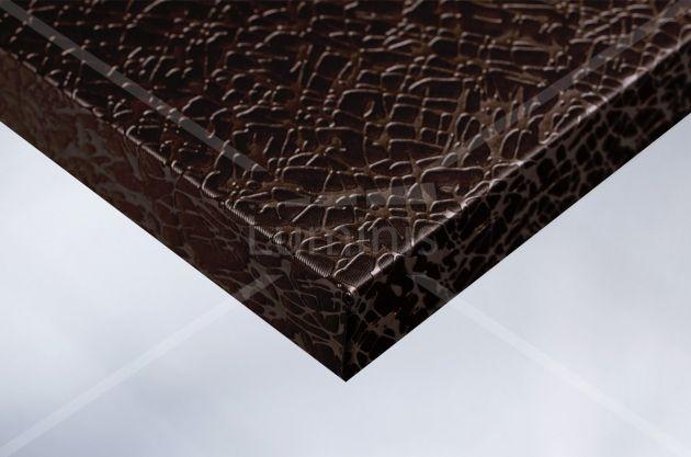 Revêtement déco effet tissu craquelé bronze. Luminis Films