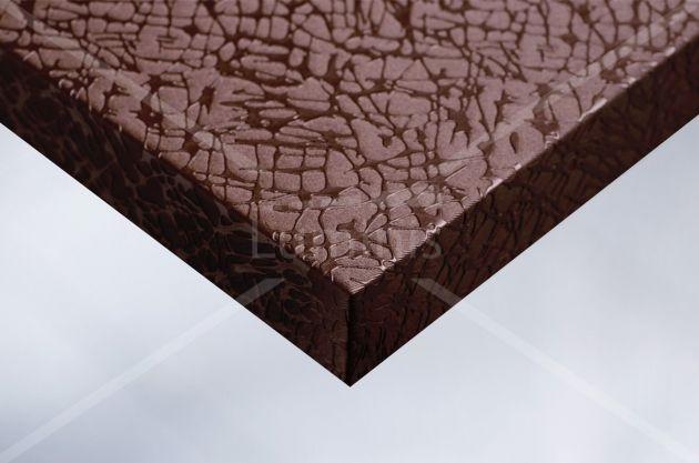 Papier adhésif tissu craquelé cuivre. Luminis Films