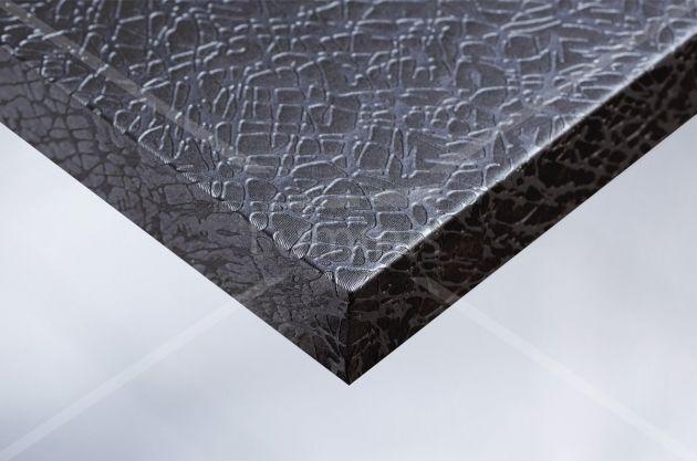 Papier autocollant effet tissu craquelé argenté. Variance Auto