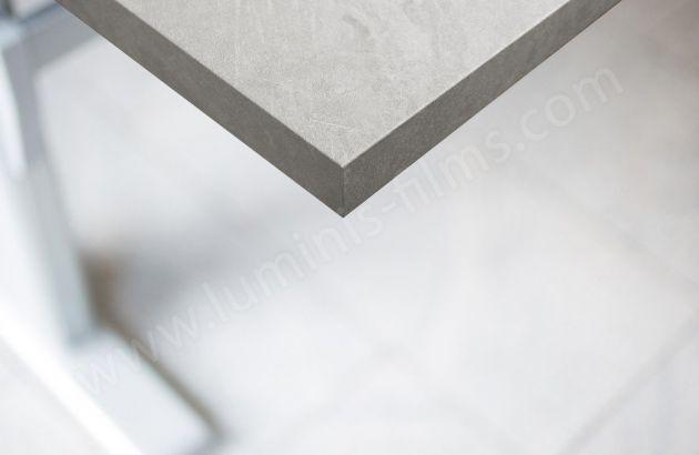 Adhésif décoratif béton blanc