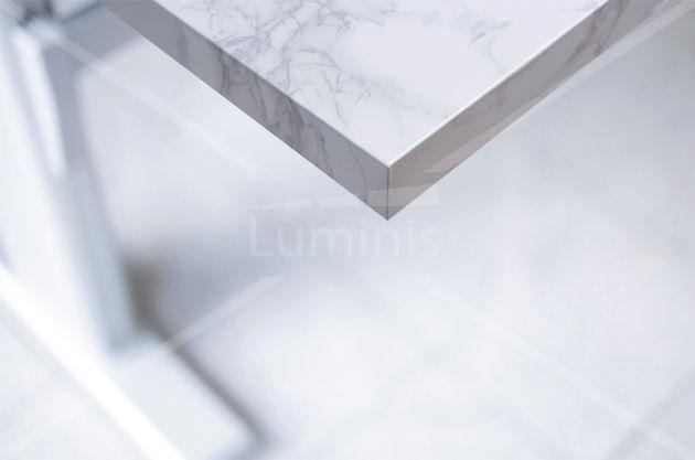 Adhésif plan de travail marbre blanc brillant