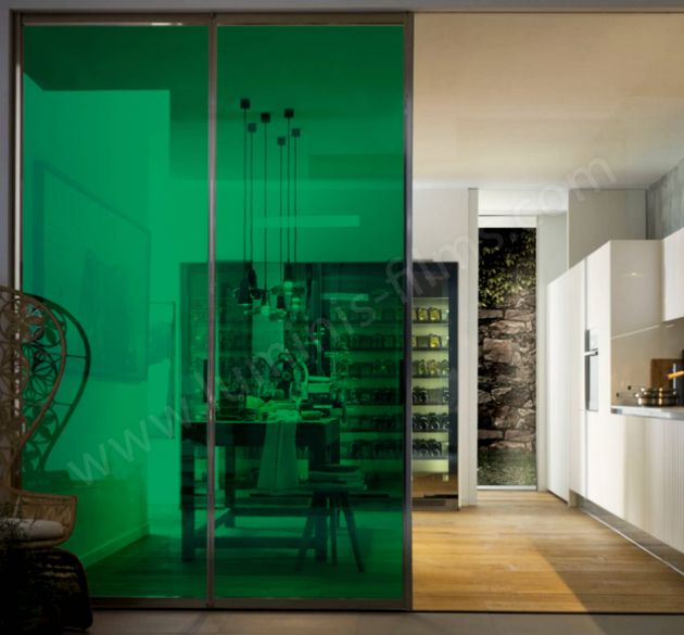 Film couleur transparent vert menthe. Luminis Films