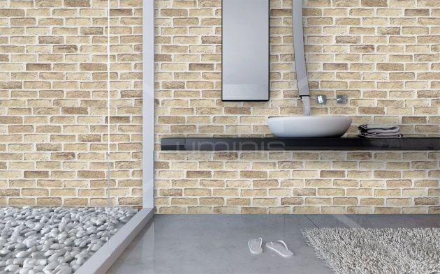 Papier mural mur de briques beiges