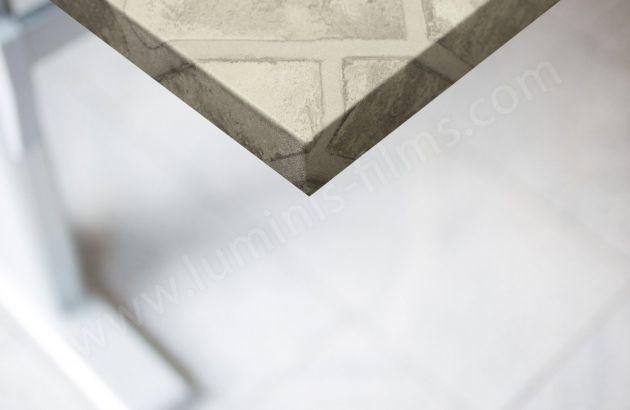 Revêtement mural effet briques claires