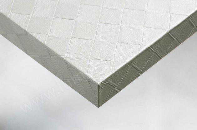 Vinyle décoratif cuir blanc en carré. Luminis Films