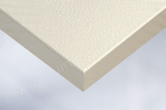 Papier adhésif effet croco blanc nacré. Luminis Films