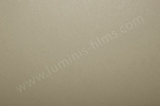 Vinyl adhésif effet cuir beige. Luminis Films