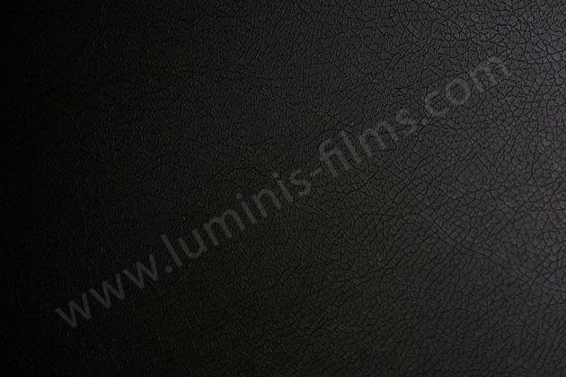 Revêtement adhésif cuir noir. Luminis Films