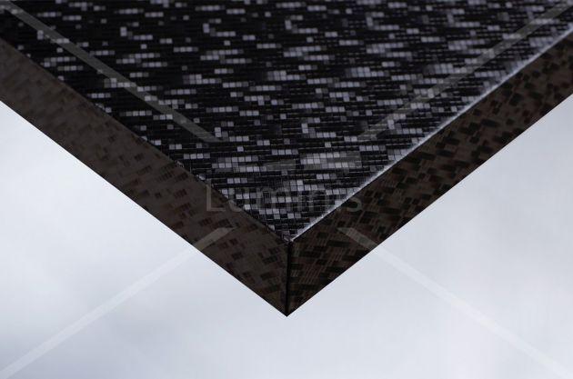 Revêtement mural multi facettes noir. Luminis Films