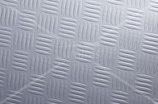 Revêtement tôle d'aluminium en damier. Luminis Films